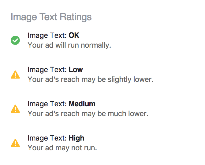 Facebook Image Text Ratings